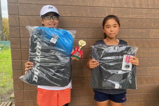 12歳以下女子シングルス優勝の
